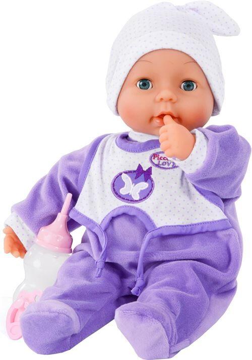 Bayer poupée bébé avec accessoires Piccoline Love violet 38 cm - Poupon