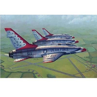 Trumpeter - Maquette avion: North american F-100D: Sous livrée des Thunderbirds - Maquette