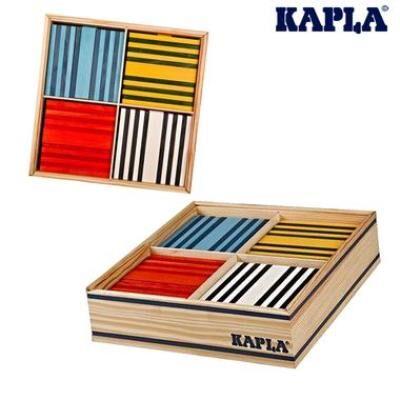 Kapla Jeu de construction Kapla 100 planchettes Octocolor 8 couleurs Enfant 3 ans +. - Autres jeux de construction