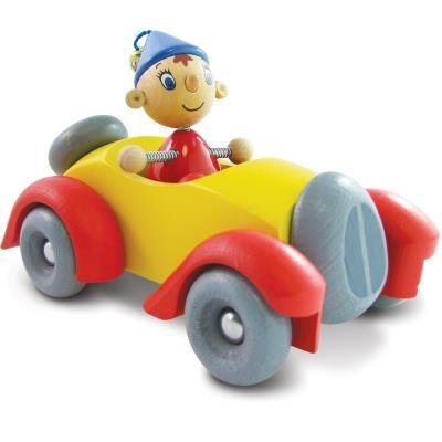 Vilac Petite voiture en bois avec personnage articulé Oui Oui Paul - Accessoires circuits et véhicules