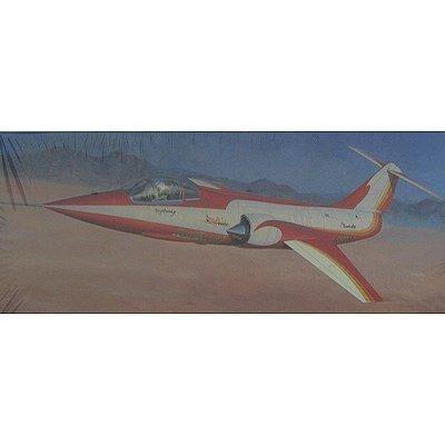 Hasegawa - Maquette avion: F-104 StarFighter Red Baron - Maquette