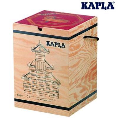 Kapla Jeu de construction Kapla Malette 280 planchettes naturel+ 1 livre d'art 3 ans + - Autres jeux de construction
