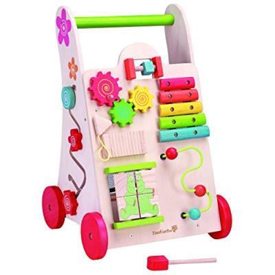 Everearth - 30949 - jouet de premier age - chariot de marche avec jeu en bois fsc - Autres toilette et soin