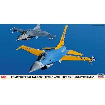 Hasegawa - Maquette avion: F-16C Fighting Falcon Texas ANG 111FS 90th Anniversary - Maquette