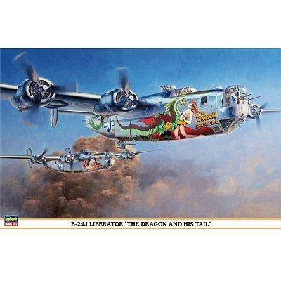 Hasegawa - Maquette avion: B-24J Liberator Dragon Tail - Maquette