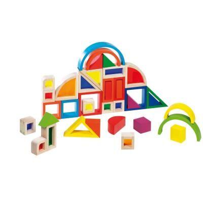 Goki Jeu de construction arc-en-ciel avec fenêtres - Autres jeux de construction
