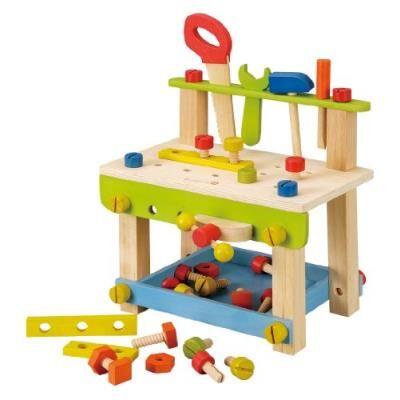 Everearth - ee32688 - jeu d'imitation - etabli à monter avec outils en bois fsc - Autres toilette et soin