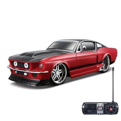 maisto - voiture radiocommandée - ford mustang gt - echelle 1/24 : bordeaux et noir - voiture radio commandé