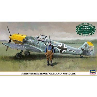 Hasegawa - Maquette avion: Bf109E Galland avec figurine pilote - Maquette