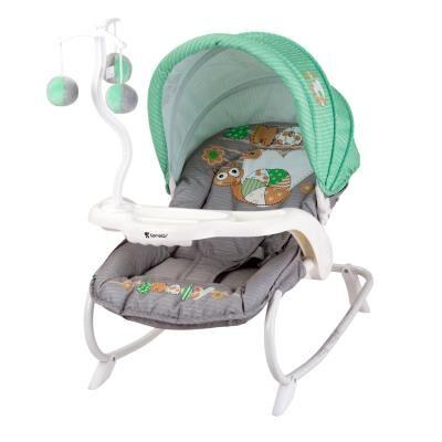 lorelli transat balancelle pour bébé dream time lorelli vert - transats pour bébé