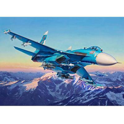 Revell Maquette avion : Sukhoi Su-27 SM Flanker Revell - Maquette