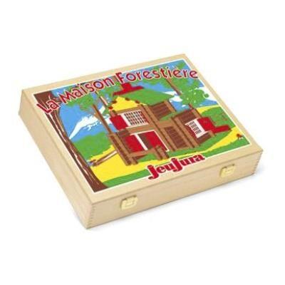 JeuJura Mon chalet en bois - 135 pièces : Coffret en bois - Autres jeux de construction