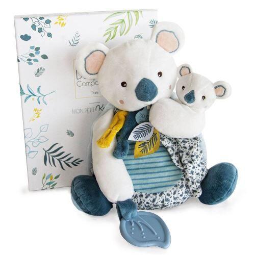 DOUDOU ET COMPAGNIE Animal en peluche Doudou et Compagnie Yoca Le Koala Pantin GM avec bébé et anneau de dentition - Animal en peluche