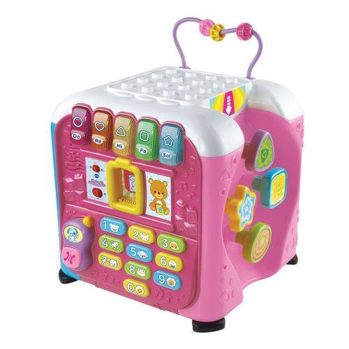VTEB Maxi Cube multi-activités Vtech Baby Rose - Jeu d'éveil