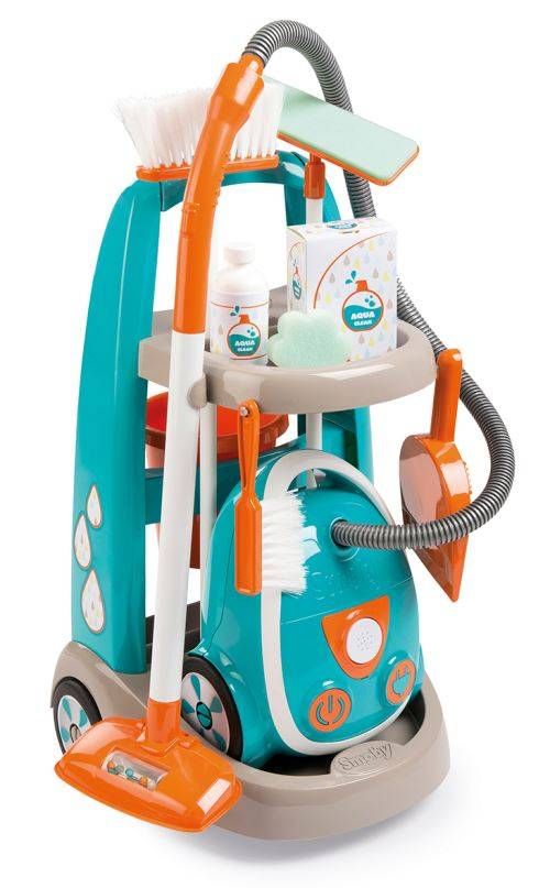 SMOBY Playset Smoby Chariot de ménage avec aspirateur - Ménage nettoyage