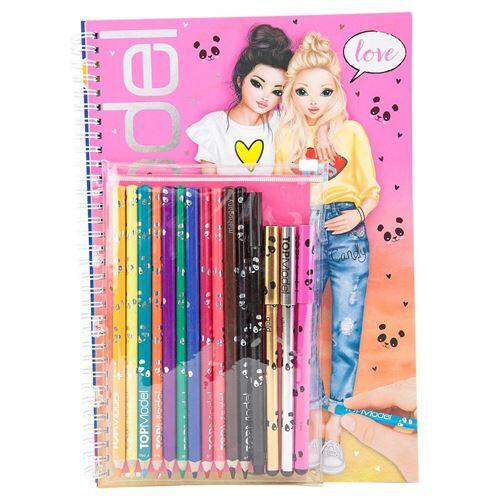 topm album coloriage top model avec crayons - carnets et journaux intimes