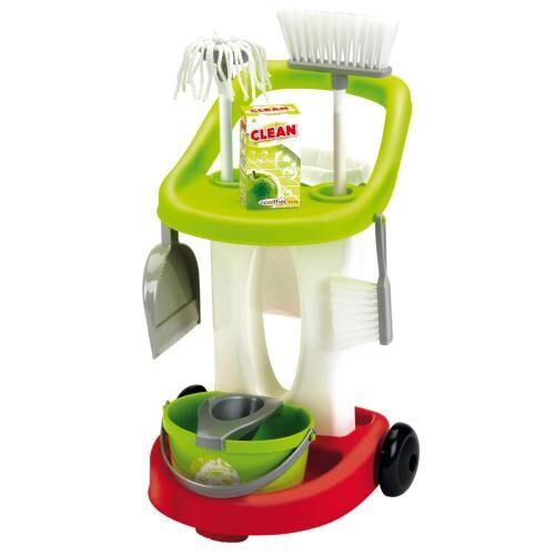 ECOF Chariot de ménage Brin de ménage Ecoiffier Bubble Clean - Ménage nettoyage