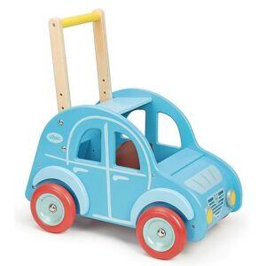 Vilac Chariot de marche deudeuch bleu en bois - véhicule à pousser - vilac - dès 1 an - Trotteurs