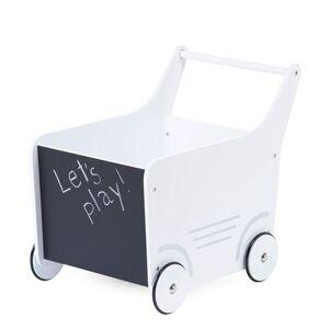 Non communiqué Chariot de marche en bois - blanc - Jeux d'éveil