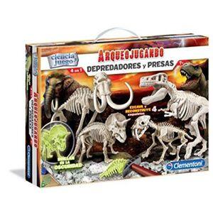 Clementoni-arqueojugando, set avec 4dinosaures surligneur (55110.1) - Jeux scientifiques