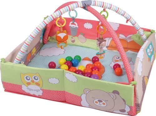 CANDY   Tapis d'éveil interactif 2en1 bébé   Fonction parc de jeu   Dès la naissance   Arche d'éveil jouets   Avec 20 balles à jouer   multicolore - Tapis d'éveil