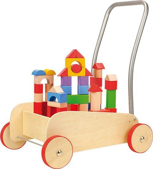 """Small Foot Chariot De Marche Avec Frein """"Cubes De Construction"""" - Autres jeux de construction"""