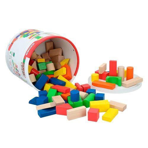 ColorBaby Cube, blocs & figurines de bois 100 bloques - Jeux d'éveil