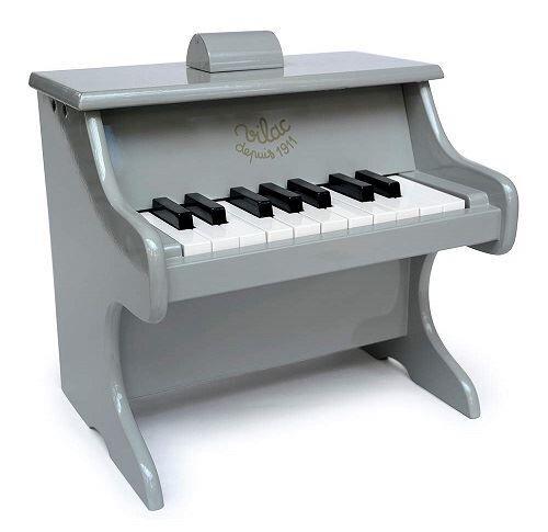 Vilac piano gris en bois 18 touches (avec partitions) edition limitee - jouet instrument musical - Jouet musical