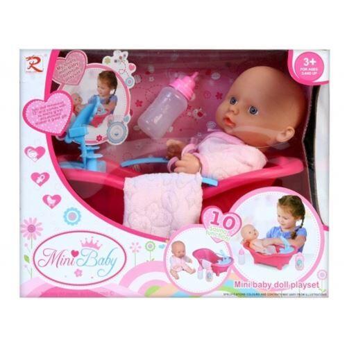 No Name boîte à poupée bébé 25cm + accessoires boîte à fen - Cubes