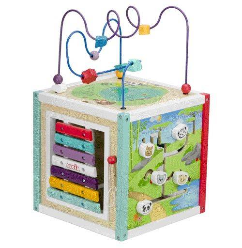 Easykado Cube Bois Multi Activités - Jeux d'éveil