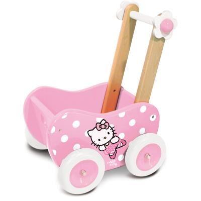 Vilac Landau à pousser en bois Hello Kitty Marine - Jouets à tirer ou à pousser