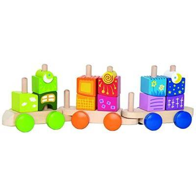 Hape international Hape - e0417 - jouet de premier age - blocs train fantaisie - Autres jeux de construction