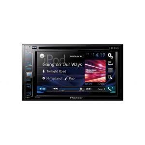 """Pioneer AVH-X390BT Lecteur multimédia à écran tactile de 6,2"""" (15,8 cm) Avec Bluetooth Peut lire les CD et DVD Prise USB, entrée Aux et sortie vidéo Noir - Voiture"""