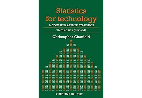 Pas de marque Statistics for Technology: A Course in Applied Statistics, Third Edition (Chapman & Hall/CRC Texts in Statistical Science Book 3) (English Edition) Format Kindle - eBook