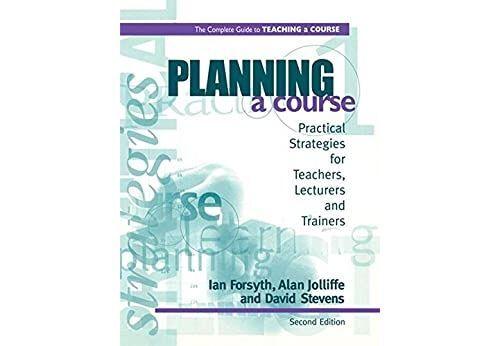 Pas de marque Planning a Course (English Edition) Format Kindle - eBook