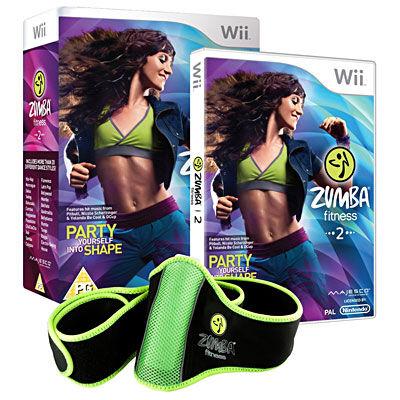 Digital Bros Zumba Fitness 2 - Sculptez votre corps en musique + ceinture - Nintendo Wii