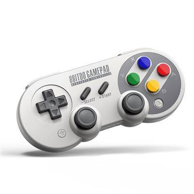 manette de jeu bluetooth sans fil 8bitdo sf30 pro controller gamepad pour windows, macos, android nintendo switch - pc