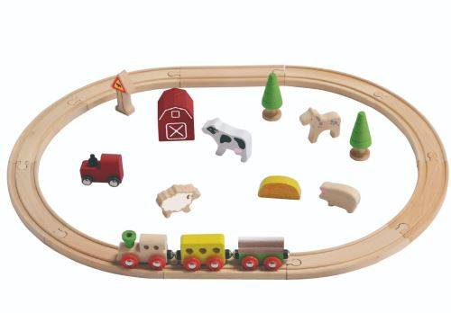 Everearth voies ferrées bois de ferme multicolore 60 cm - Autres figurines et répliques