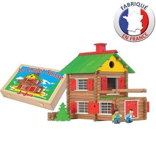 JEUJURA - Mon Chalet en Bois 175 pieces Coffret en Bois - Autres jeux de construction
