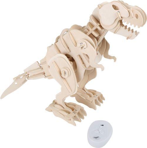 Small Foot Kit En Bois Dino-Robot T-Rex Avec Télécommande - Autres jeux de construction