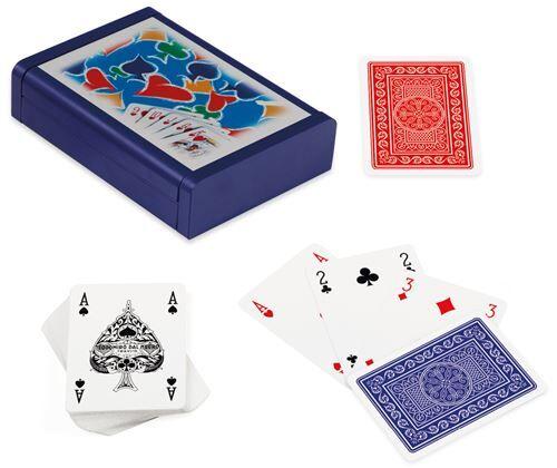 Non communiqué Dal Negro cartes à jouer avec support Dibond bois bleu 3-pièces - Jeu de cartes
