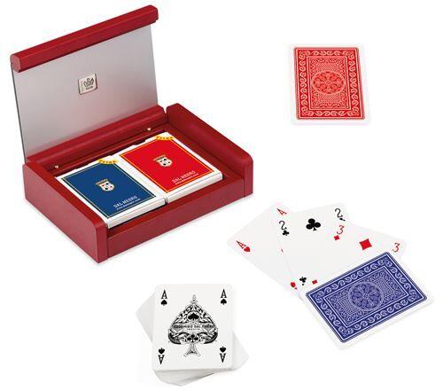 Non communiqué Dal Negro cartes à jouer avec support Dibond bois rouge 3-pièces - Jeu de cartes