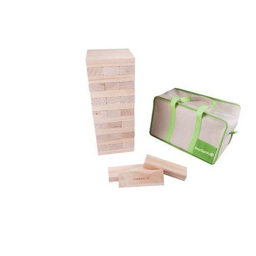 Everearth Blocs de construction de tour en bois 38 cm junior blank - Puzzle 3D