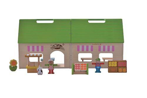 Everearth - Ee33609 - Maison De Poupée - Mon Magasin Bio - Accessoire poupée
