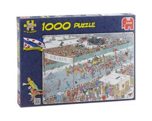 Jumbo Puzzle 1000 Pièces : Van Haasteren Jan : Course sur Glace, Jumbo - 1000 pièces