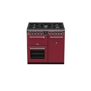 Stoves Piano de cuisson Stoves RICHMOND DELUXE GAZ 90CM CHILI RED PRICHDX90DFCRE - Publicité