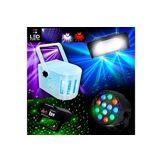 Ibiza Light PACK jeux de lumières 4 Effets +  Strobe50 LED + DERBY KOLOR RGBW + LytOr + PAR-MINI  + Las Vert/Rouge