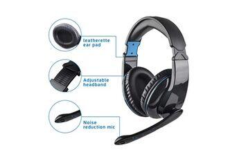 l5 filaire ergonomique design jeux vidéo earphone micro casque pour ps4