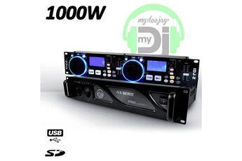 ibiza sound double lecteur contrôleur mp3 avec double usb + double sd card idj2 + ampli mydj ax 1000w
