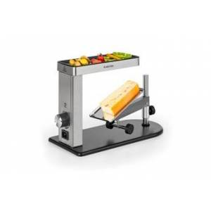 KLARSTEIN Appenzell pro appareil à raclette & plaque grill 600w - boîtier inox noir / argent